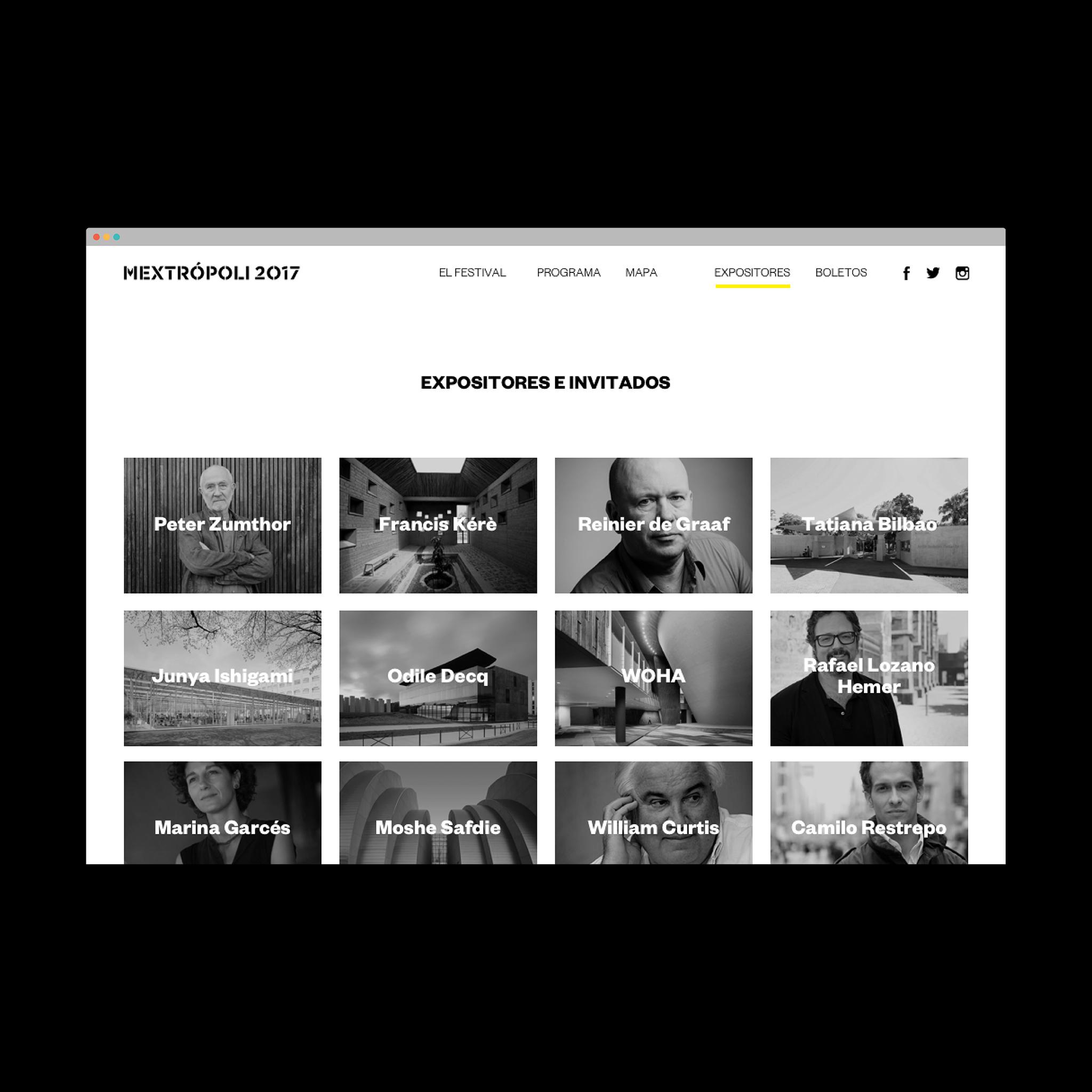 Cartel e identidad para Mextrópoli 2017 Arquine
